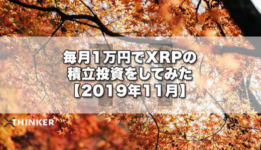 毎月1万円でXRPの積立投資をしてみた【2019年11月】《8ヶ月目》