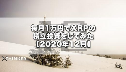 毎月1万円でXRPの積立投資をしてみた【2020年12月】《21ヶ月目》