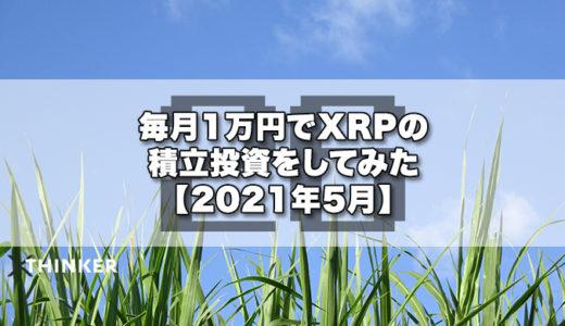 毎月1万円でXRPの積立投資をしてみた【2021年5月】《26ヶ月目》