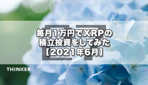 毎月1万円でXRPの積立投資をしてみた【2021年6月】《27ヶ月目》